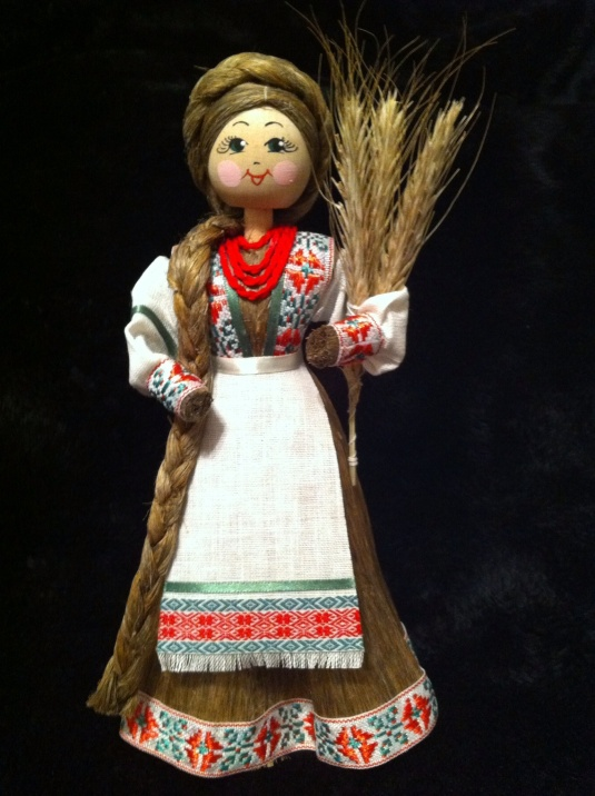 Straw doll representing traditional Belarus.