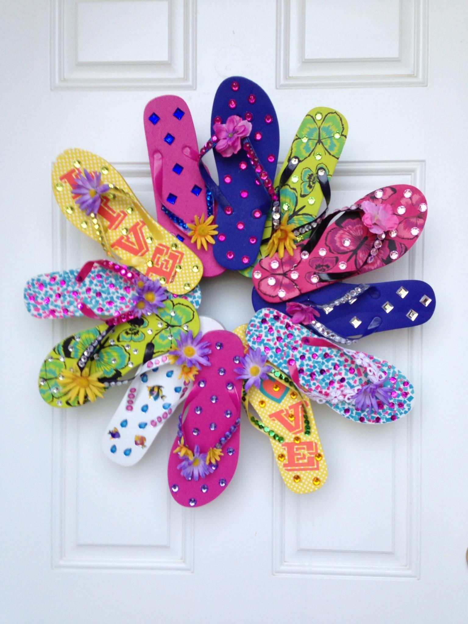 fab flops favecrafts ideas shoes embellished fabulousflipflops com decorating flip summer decor flop