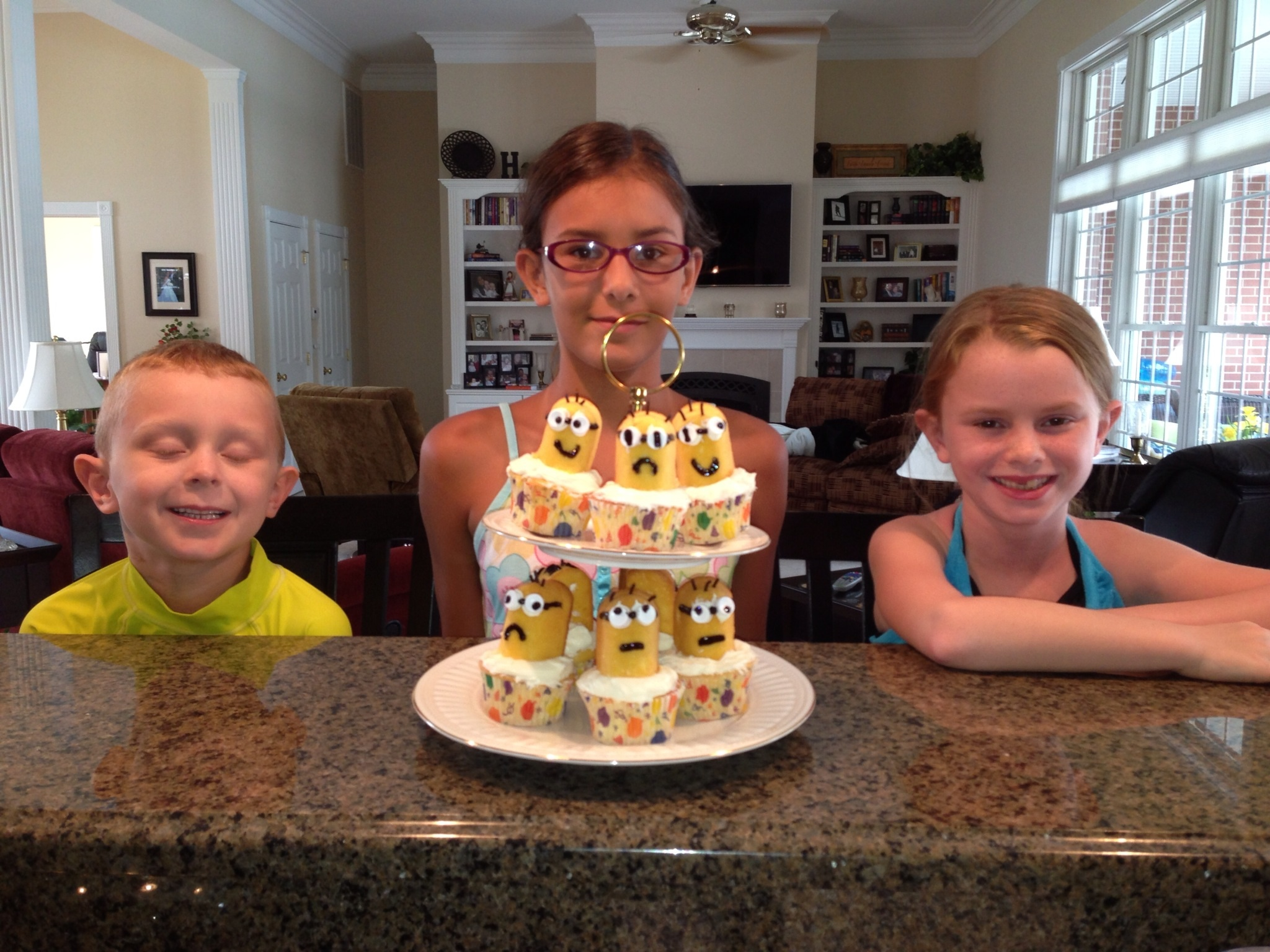 Their Minion cupcakes turned out pretty cute.