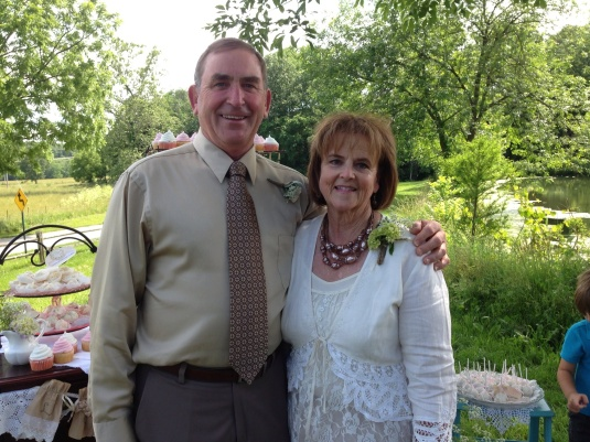 The parents of the groom (Jack's sister, Carol, and Delano).